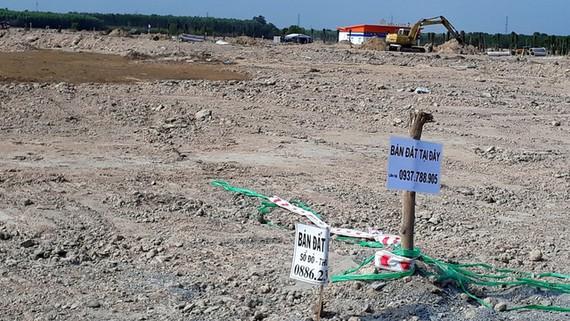 Một dự án khu dân cư tại xã Long An, huyện Long Thành, Đồng Nai đã được làm hạ tầng và đang được mở bán với giá 8-10 triệu đồng/m2 - Ảnh: A LỘC