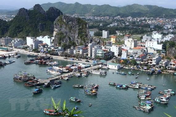 Đảo Cái Bầu là đảo trung tâm, giàu nguồn tài nguyên của huyện Vân Đồn, Quảng Ninh. (Ảnh: Minh Quyết/TTXVN)