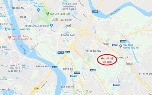 Quy hoạch chi tiết Khu đô thị Gia Lâm, tỷ lệ 1/500 với tổng diện tích lên 420 ha. (Ảnh: Tri Thức Trẻ)