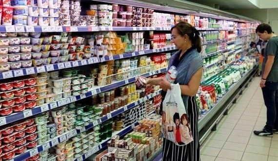 Một siêu thị ở Nga. (Nguồn: Asharq Al-Awsat)
