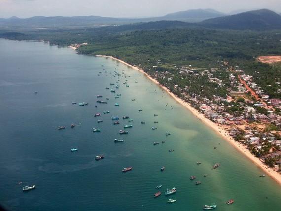 Khu vực ngư trường vùng Đông Bắc đảo Phú Quốc. (Ảnh: Ngọc Hà/TTXVN)