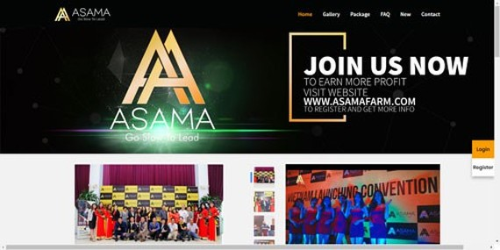 Việc quảng cáo kinh doanh đa cấp tiền ảo được Asama Mining công khai trên mạng