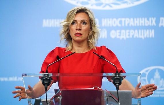 Người phát ngôn Bộ Ngoại giao Nga Maria Zakharova. (Nguồn: TASS)