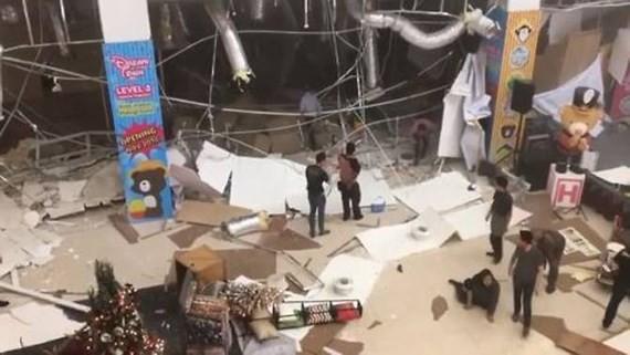 Hiện trường vụ nổ tại CityONE Megamall ở Kuching, Sarawak, Malaysia, ngày 4-12-2018. BERNAMA