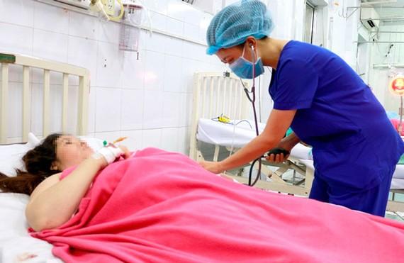 Sản phụ T. được chăm sóc ở bệnh viện