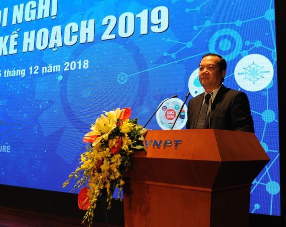 Ông Phạm Đức Long, Tổng Giám đốc VNPT phát biểu tại Hội nghị. Ảnh: VGP/Hiền Minh