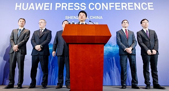 Buổi họp báo Huawei công bố việc khởi kiện Chính phủ Mỹ