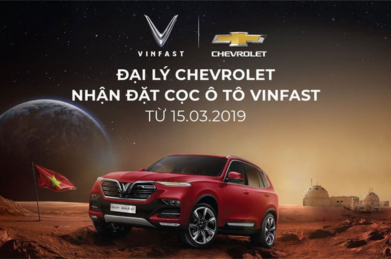 Đại lý Chevrolet chính thức nhận đặt cọc xe ô tô Vinfast