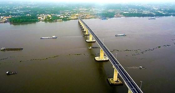 Cầu Mỹ Lợi trên quốc lộ 50. Ảnh: ST