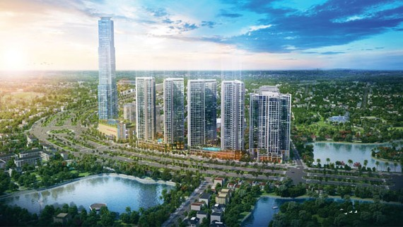 Tòa tháp cao 69 tầng bên trong dự án Eco-Green được xem là tòa nhà biểu tượng cao nhất của khu vực Phú Mỹ Hưng và Nam Sài Gòn
