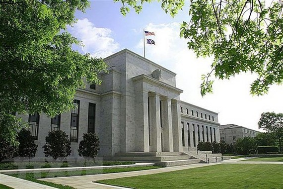 Trụ sở Ngân hàng Dự trữ Liên bang Mỹ (Fed) tại Washington, DC. (Nguồn: AFP/TTXVN)
