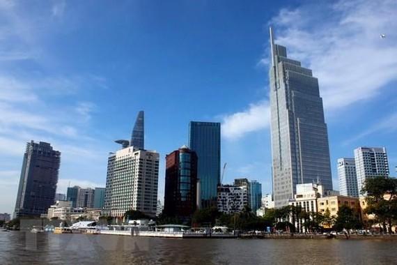 Một góc trung tâm quận 1, Thành phố Hồ Chí Minh. (Ảnh minh họa: Hoàng Hải/TTXVN)