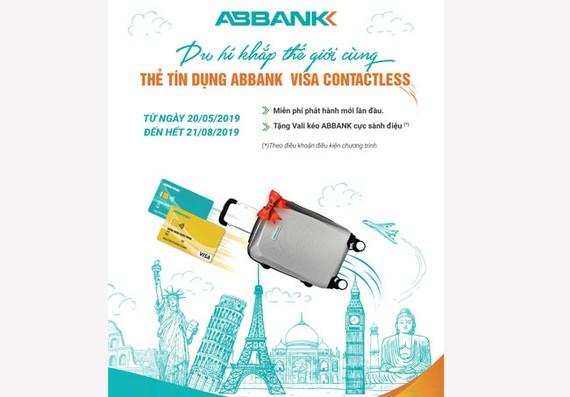 Mở thẻ ABBANK Visa Contactless nhận vali sành điệu