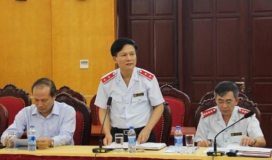 Phó Tổng TTCP Bùi Ngọc Lam chủ trì buổi công bố quyết định kiểm tra.