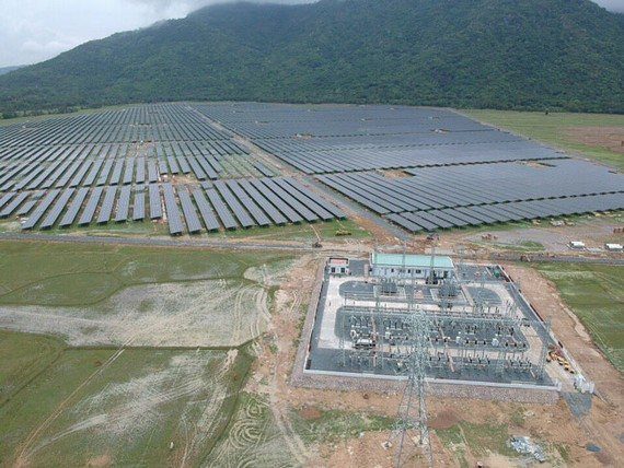 Dự án Nhà máy điện NLMT Sao Mai Solar PV1 tăng tốc cán đích.