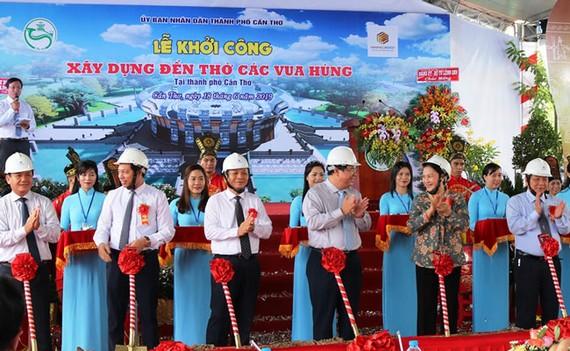 Khởi công xây Đền thờ các Vua Hùng tại Cần Thơ, với tổng mức đầu tư gần 130 tỷ đồng.