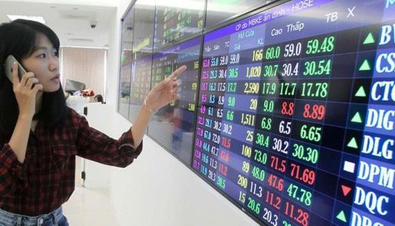 Cổ phiếu ngân hàng dậy sóng đẩy VN Index tăng gần 10 điểm