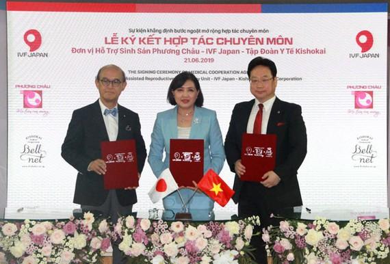 Chương trình ký kết hợp tác về lĩnh vực hiếm muộn giữa Bệnh viện Quốc tế Phương Châu và các đối tác Nhật Bản