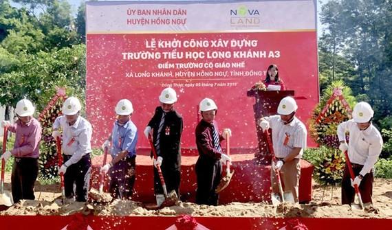 Novaland tài trợ xây dựng trường học tại Đồng Tháp