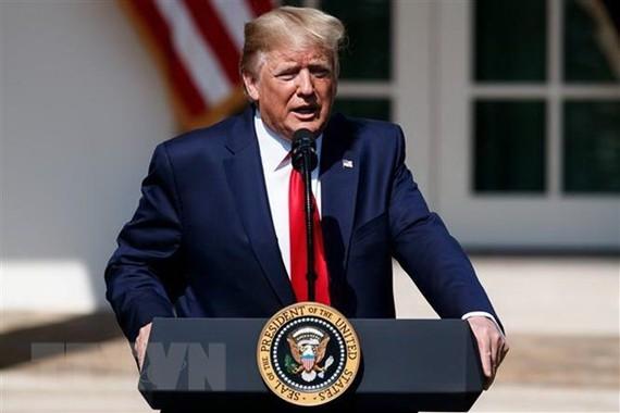 Tổng thống Mỹ Donald Trump phát biểu tại Nhà Trắng ngày 29/7/2019. (Nguồn: THX/TTXVN)