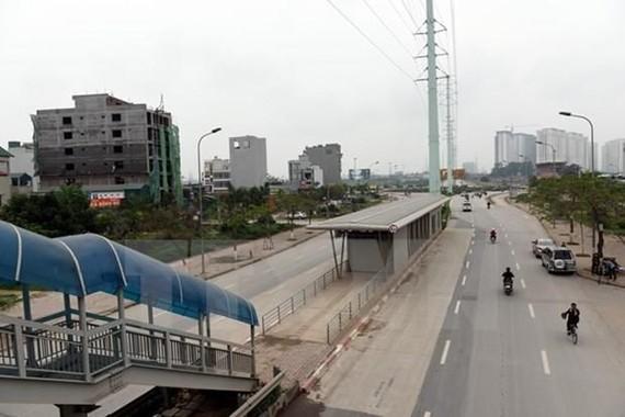 Một điểm nhà chờ xe buýt. (Ảnh minh họa. Nguyễn Văn Cảnh/TTXVN)