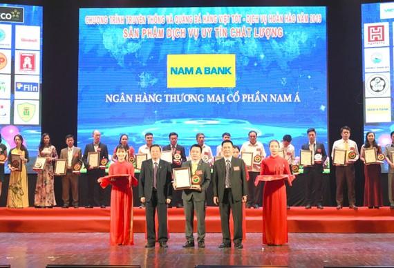 2 dòng thẻ NamABank vào top 20 sản phẩm chất lượng cao