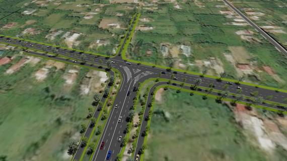 Dự án thành phần đoạn Cam Lộ-La Sơn khi hoàn thành cùng với đoạn La Sơn - Túy Loan tạo thành tuyến cao tốc Cam Lộ - La Sơn - Túy Loan. Ảnh: Ban QLDA Hồ Chí Minh.