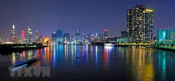 Một góc trung tâm Thành phố Hồ Chí Minh. (Ảnh: Ngọc Hà/TTXVN)