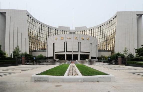 Trụ sở Ngân hàng Nhân dân Trung Quốc (PBoC) tại Bắc Kinh. (Ảnh: AFP/ TTXVN)