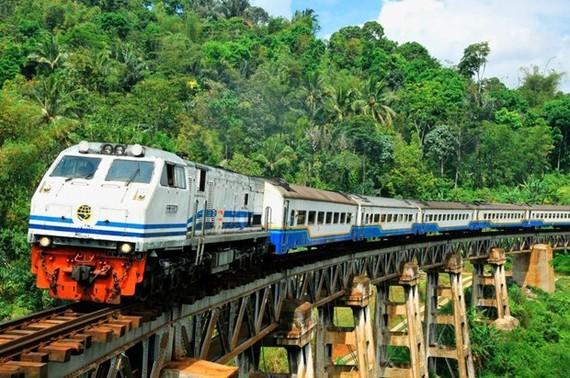 Giao thông đường sắt tại Indonesia. (Nguồn: The Jakarta Post)