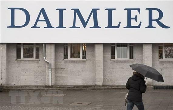 Biểu tượng Daimler tại Berlin, Đức. (Nguồn: AFP/TTXVN)