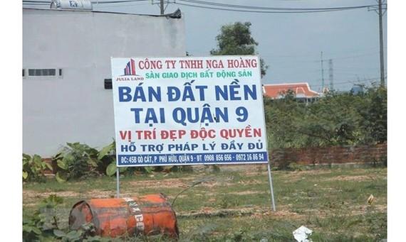 Đất nền được giao bán tại Thành phố Hồ Chí Minh. (Ảnh chỉ có tính chất minh họa. Nguồn: TTXVN)