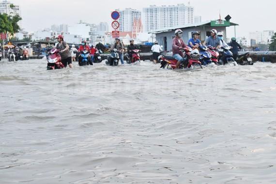 Thực hiện nhiều biện pháp hạn chế ngập nước do triều cường