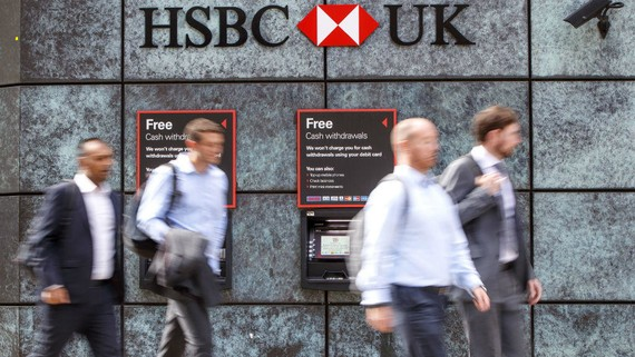 Chi nhánh HSBC Anh  tại London. Nguồn: Tolga Akmen, AFP