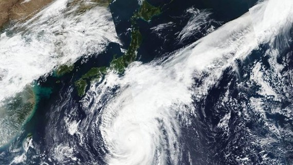 Cơ quan khí tượng Nhật Bản dự báo sức gió có thể đạt tới mức 216 km/giờ. (Nguồn: stuff.co.nz)