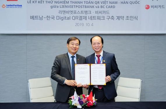 LienVietPostBank và BC Card (Hàn Quốc) ký kết thỏa thuận hợp tác