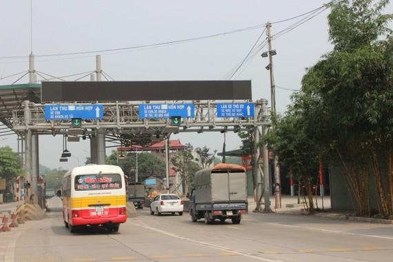 Trạm Km72+930 đường Thái Nguyên - Chợ Mới đã thu phí từ tháng 1/2018, còn lại trạm 77+922,5 QL3 đến nay vẫn chưa được thu phí. Ảnh: Báo Giao thông.