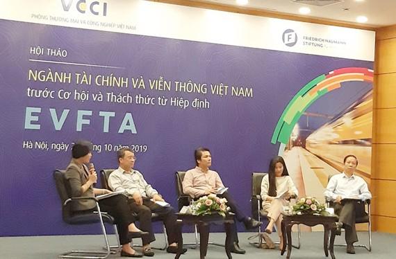 Tài chính và viễn thông trước áp lực từ các cam kết EVFTA