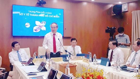 Bí thư Thành ủy TPHCM Nguyễn Thiện Nhân tại lễ khánh thành Trung tâm y tế thông minh.