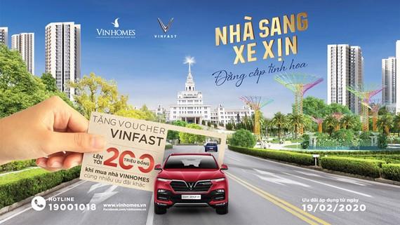 Mua nhà Vinhomes tặng voucher xe Vinfast