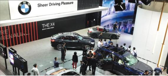 Một gian hàng của BMW tại triển lãm ô tô Quảng Châu. Ảnh: China Daily