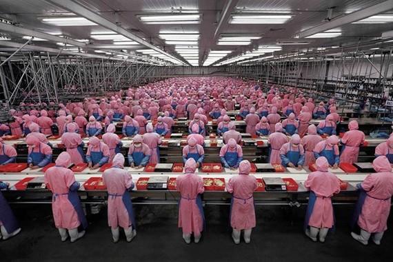 Công nhân làm việc tại một nhà xưởng ở Trung Quốc. (Nguồn: linkedin.com)
