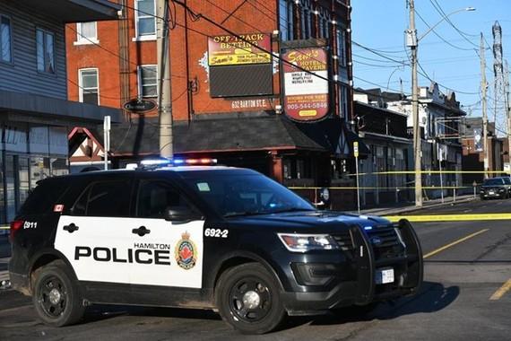 Hiện trường vụ xả súng ở thành phố Hamilton, Canada. (Ảnh: The Star)