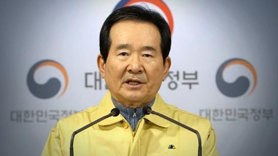 Thủ tướng Hàn Quốc Chung Sye-kyun. Ảnh: Reuters