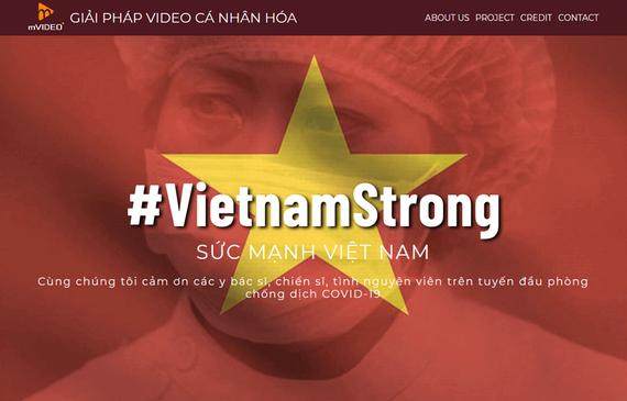 Giao diện trang web vietnamstrong.