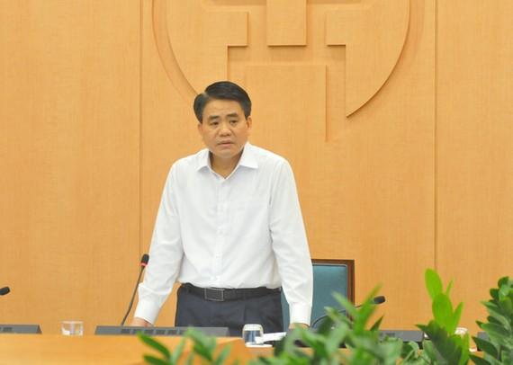 Sáng 6-4, Chủ tịch thành phố Hà Nội Nguyễn Đức Chung cho biết thành phố vừa phát hiện ca mắc COVID-19 sau 23 ngày khám tại Bệnh viện Bạch Mai - Ảnh: XUÂN LONG