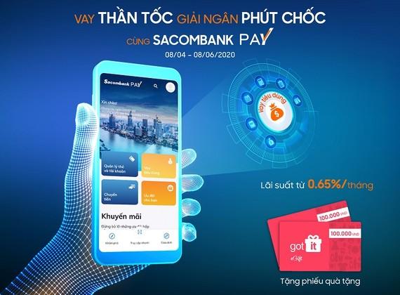 Nhận quà tặng khi vay tiêu dùng trên Sacombank Pay