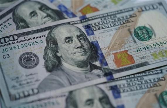 Đồng tiền USD tại Washington D.C. (Ảnh: THX/TTXVN)