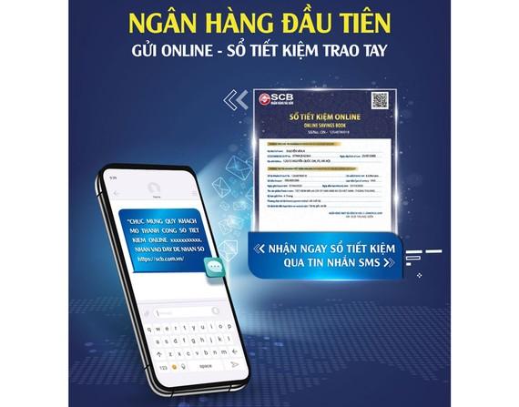 SCB tiên phong triển khai gửi sổ tiết kiệm online qua SMS