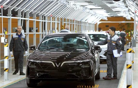 Xe VinFast của tập đoàn Vingroup, thương hiệu xe Việt đầu tiên tại Việt Nam. (Nguồn: TTXVN)